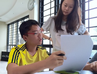 """SEAB Syllabus GCE O levels English with Maris Stella Student. Student Counsellor guiding on Situational Writing """"Proposal to the Principal"""""""