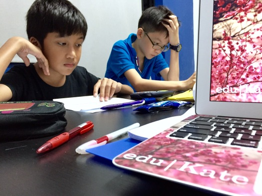 SEAB PSLE Students doing MOE Maths Primary 6 tuition in Tampines eduKate Singapore Tutorial Class for Primary Poi Ching School