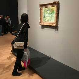 Tutor Yuet Ling at NGV, Australia in a Van Gogh Exhibition