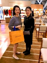 Tutor Yuet Ling with Mori Azusa at LV MBS